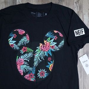 Neff Shirts - Disney by Neff Mickey Mouse Floral Black T-Shirt